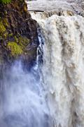 Stock Photo of roaring snoqualme falls waterfall washington state pacific northwest