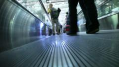 Movement on Travelator Stock Footage