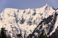 Snowy mount chikamin peak snoqualme pass wenatchee national forest washington Stock Photos