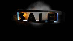 Fiery Letters:  Sale Stock Footage