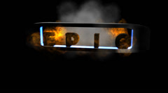 """Fiery Letters:  """"Epic"""" + Looping Stock Footage"""