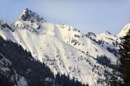 Stock Photo of kendall peak snow mountain snoqualme pass washington
