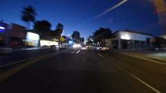 Ventura Blvd. Drive Timelapse Twilight Stock Footage