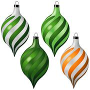 Christmas Ornaments - stock illustration