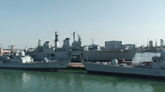 Navy in Portsmouth Stock Footage