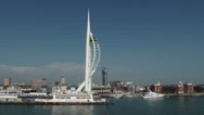 Stock Video Footage of Millennium Tower Portsmouth