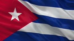 Flag of Cuba - seamless loop Stock Footage