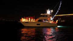 Christmas-boat-6 Stock Footage