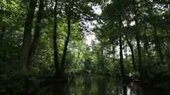 Boat trip, Spreewald 09 Stock Footage