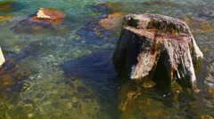 Mountain River Isar. Sequences Stock Footage
