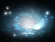 Space galaxy and stars - stock illustration