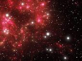 Stock Illustration of Red space star nebula