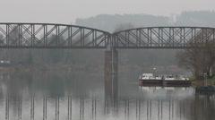 Railway bridge HD Stock Footage