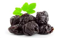 Stock Photo of prunes   isolated on white  background