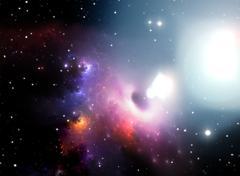 Stock Illustration of black hole in the nebula