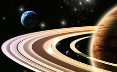 exoplanets. world outside of our solar system - stock illustration