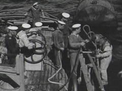 Vintage diving Stock Footage