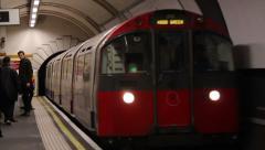 London Underground #Inbound train Stock Footage