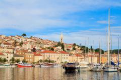 Stock Photo of mali losinj waterfront and harbor, island of losinj, dalmatia, croatia
