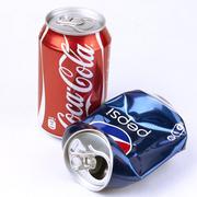 coca-cola and pepsi cans - stock photo