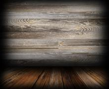 grungy wooden indoor backdrop - stock illustration