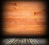 indoor background with wood planks - stock illustration
