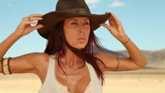 Sexy cowgirl wild west 4 Stock Footage