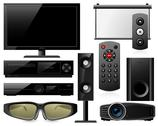 Stock Illustration of home theater equipment