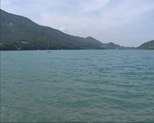 Lake Fuschlsee in the Austrian Alps Stock Footage