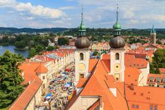 telc, view on old town (a unesco world heritage site), czech republic - stock photo