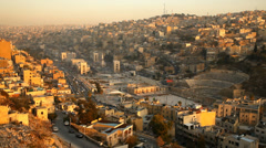 Amman - capital of Jordan Stock Footage
