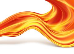 fiery lines - stock illustration