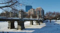 Boston in Winter Stock Footage