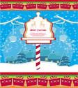 Stock Illustration of elegant christmas background with winter landscape