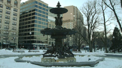 Brewer Fountain Boston Common Stock Footage