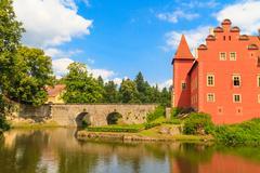Red water chateau cervena lhota in southern bohemia, czech republic Stock Photos
