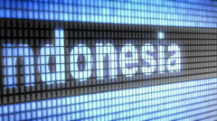 Indonesia on screen Stock Footage
