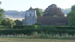 Old English Church in Countryside Stock Footage
