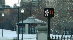 Pedestrian Countdown Boston Stock Footage