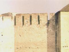 Pan Shot of Medieval Castle Stock Footage