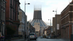 Liverpool Metropolitan Cathedral Stock Footage