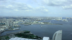 Yokohama city scenics from a tower(6) Stock Footage