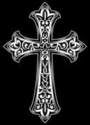 Antique christian cross vector Stock Illustration