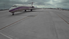 Aerial airport FULLHD 50fp/s - stock footage