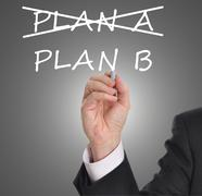 Plan B - stock illustration