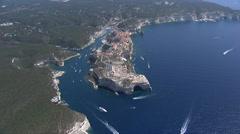 Aerial corsica bonifacio Stock Footage