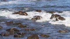 Crashing water on Rocks Stock Footage