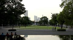 Yokohama city shots, Yamashita park (5) Stock Footage