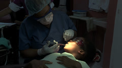 In the Dentists Chair in the Dominican Republic Stock Footage