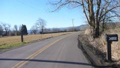 Back Road Driving Stock Footage
